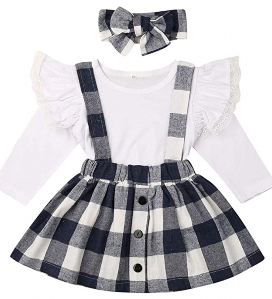 Gingham for fall for kids