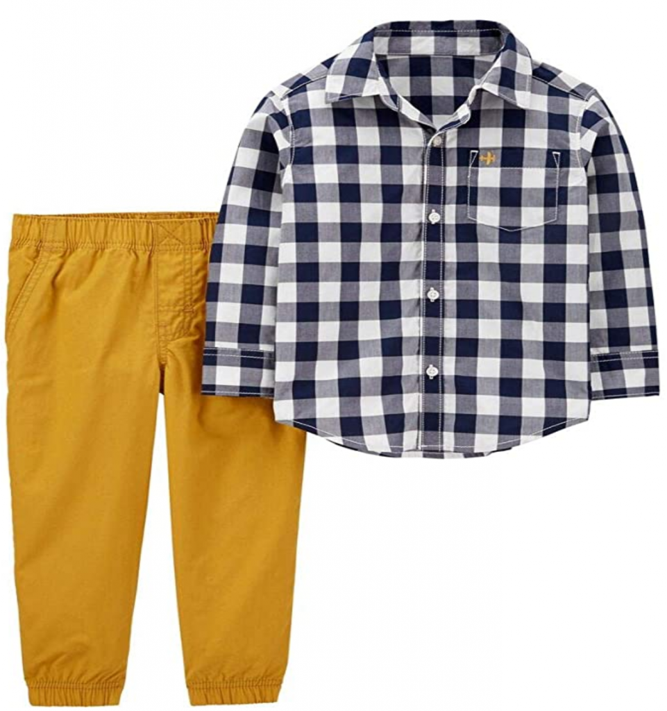 Gingham for fall boys outfit
