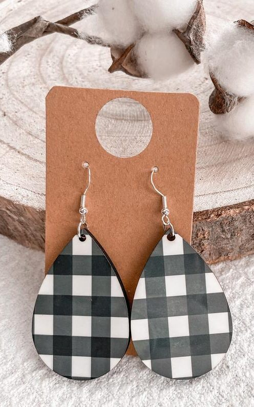 Gingham earrings