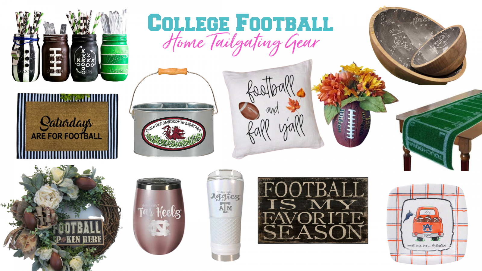 Football decor for home tailgating