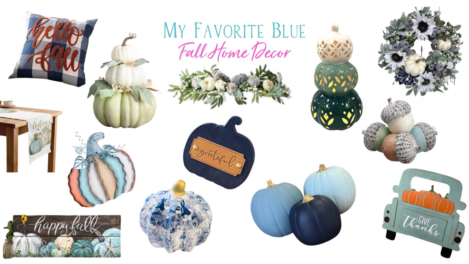 blue fall decor