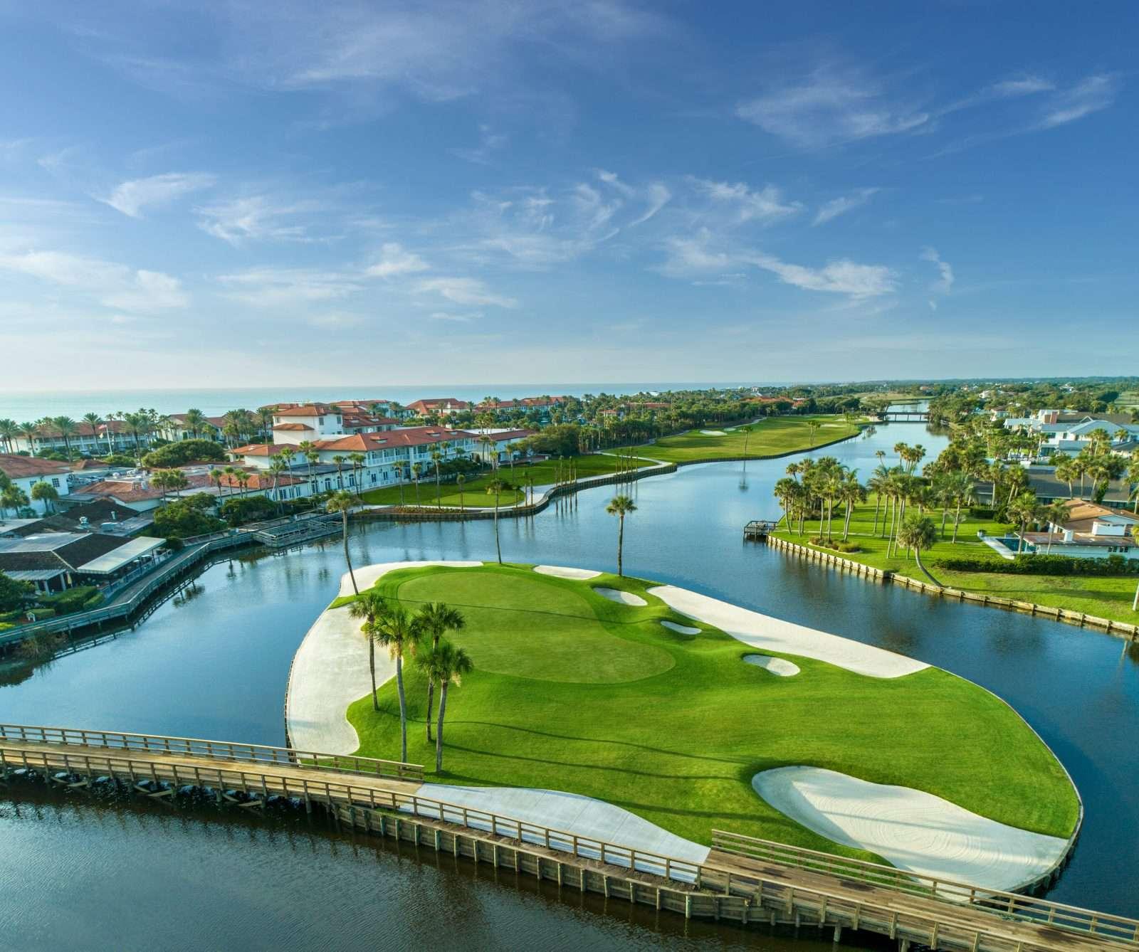 Ponte Vedra Inn & Club aerial shot of golf course