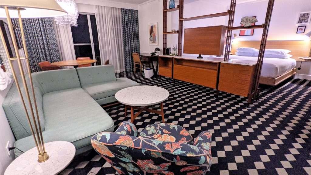 Our beachfront hotel suite at The Confidante in Miami Beach