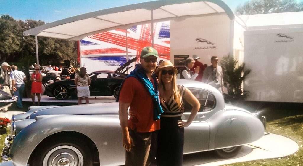 Savannah Carlisle and Chadd Scott at Amelia Island Concours d'Elegance